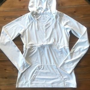 ATHLETA Drawstring Pocket Hoodie L/S Top XXS